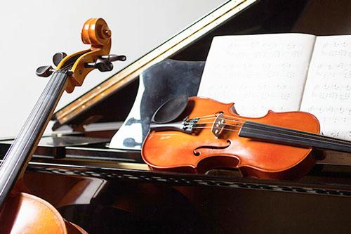 Musikinstrumente für Umzug